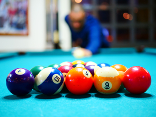 Pro pool table setup in Allentown image