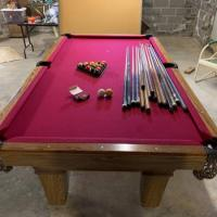 Olhausen Pool Table Solid Oak