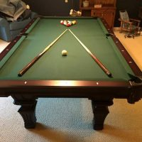 Olhausen Hampton Heritage Cherry 8' Slate Pool Table