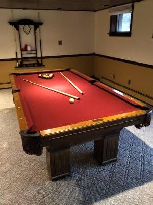 Pool Table Red Felt